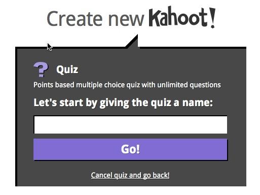 Kahoot-create